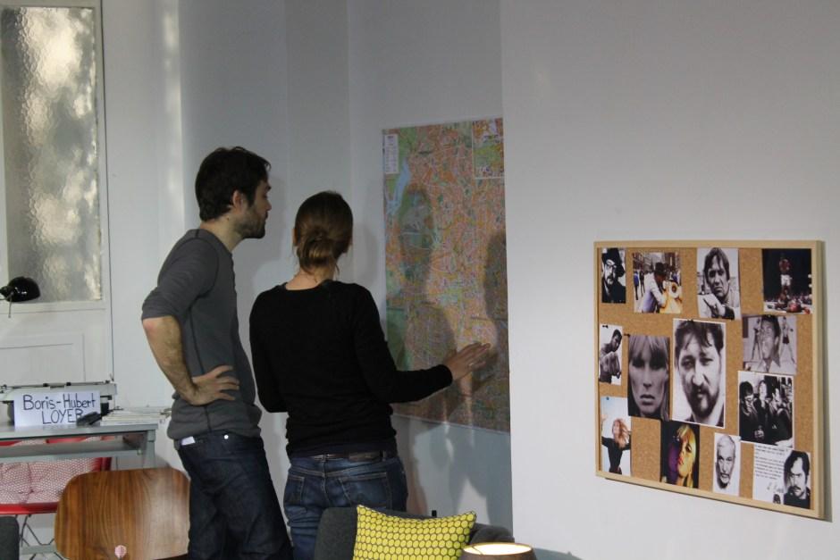 La carte de Berlin, avec les lieux des romans © Christine Marcandier