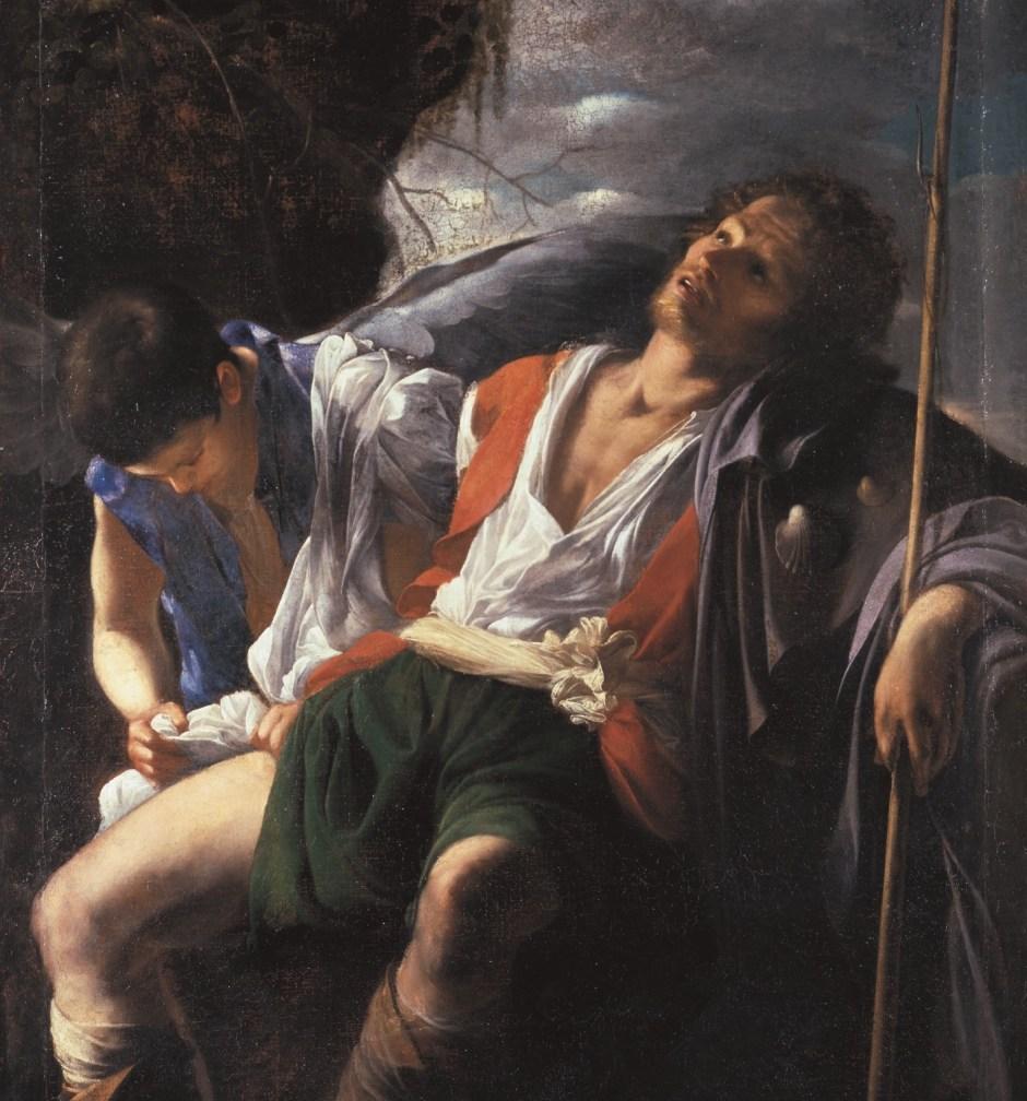 Carlo Saraceni, Saint Roch soigné par un ange