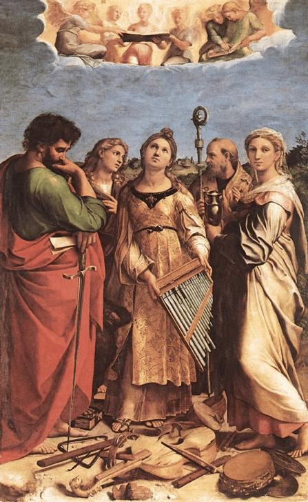 Raphaël, L'extase de Sainte-Cécile (1516-1517)