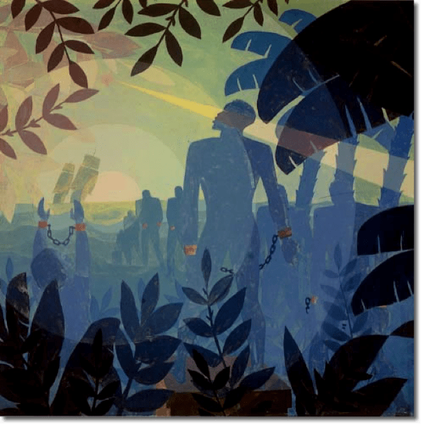 Aaron Douglas, Into Bondage, 1936