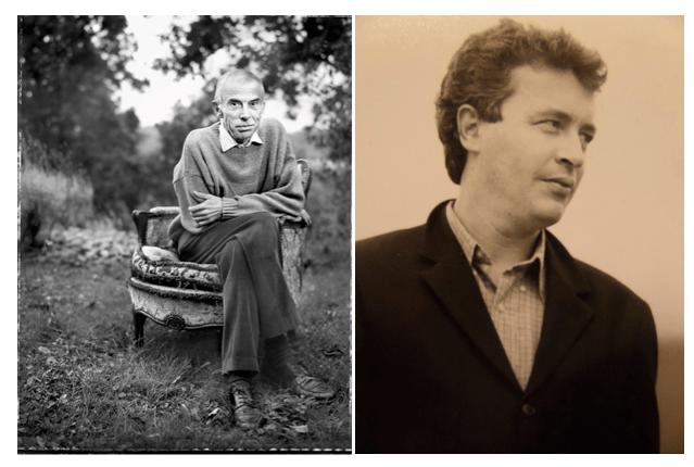 Pierre Bergounioux (à gauche), Frédéric-Yves Jeannet (à droite) © Renaud Monfourny