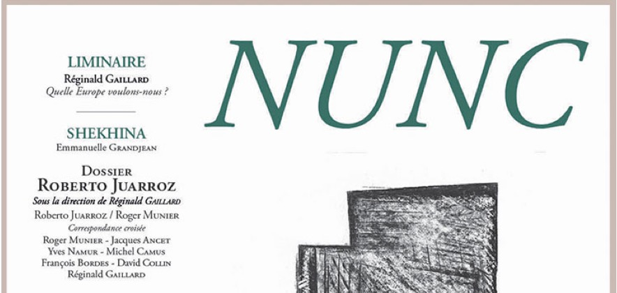 La revue NUNC : «Retisser des liens entre tradition et création contemporaine»
