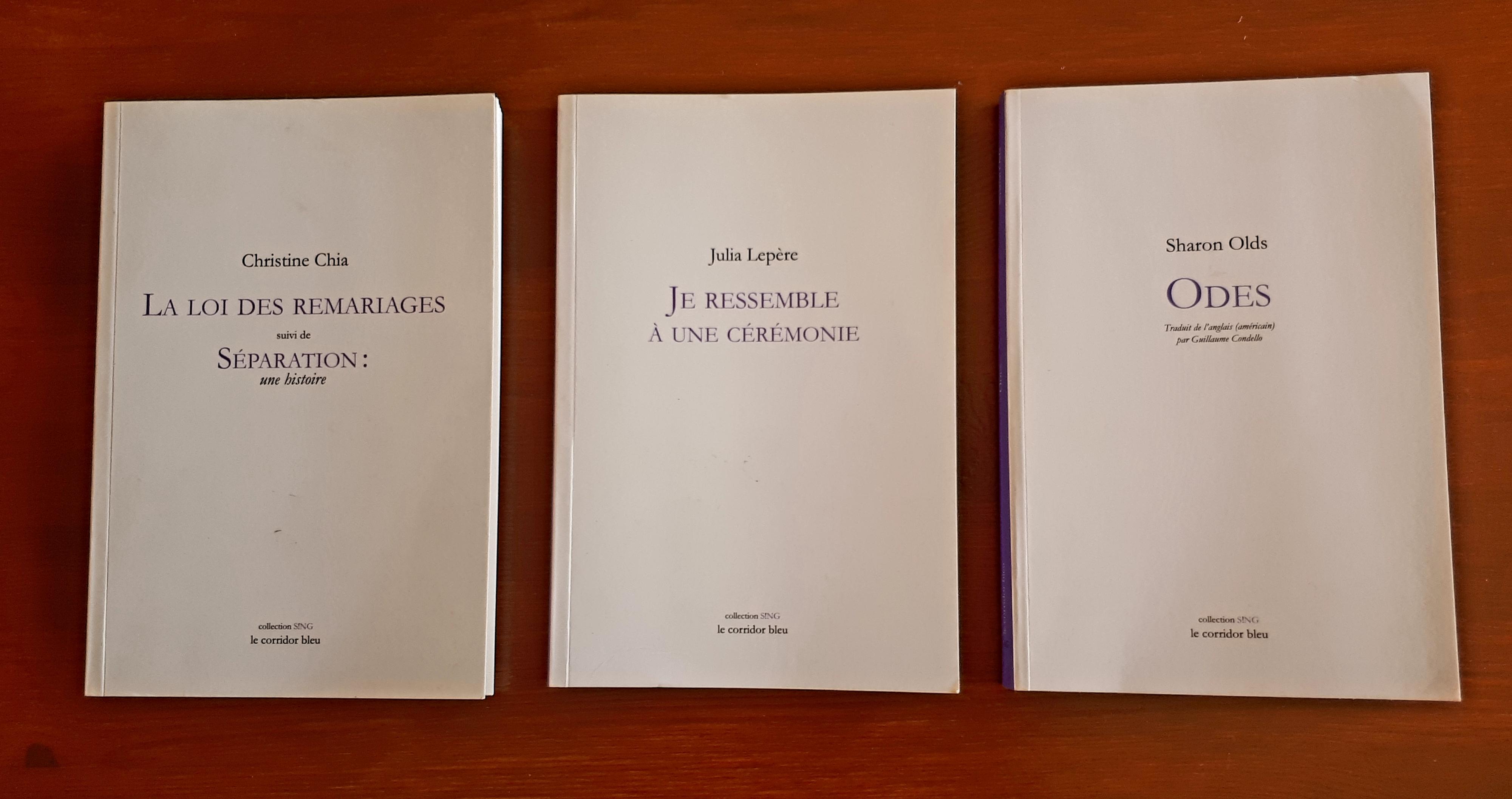 Christine Chia, Julia Lepère et Sharon Olds: trois femmes «S!NG» à la lisière des poésies