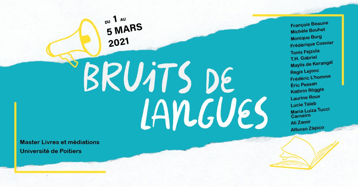Festival Bruits de langues: 1er au 5 mars 2021