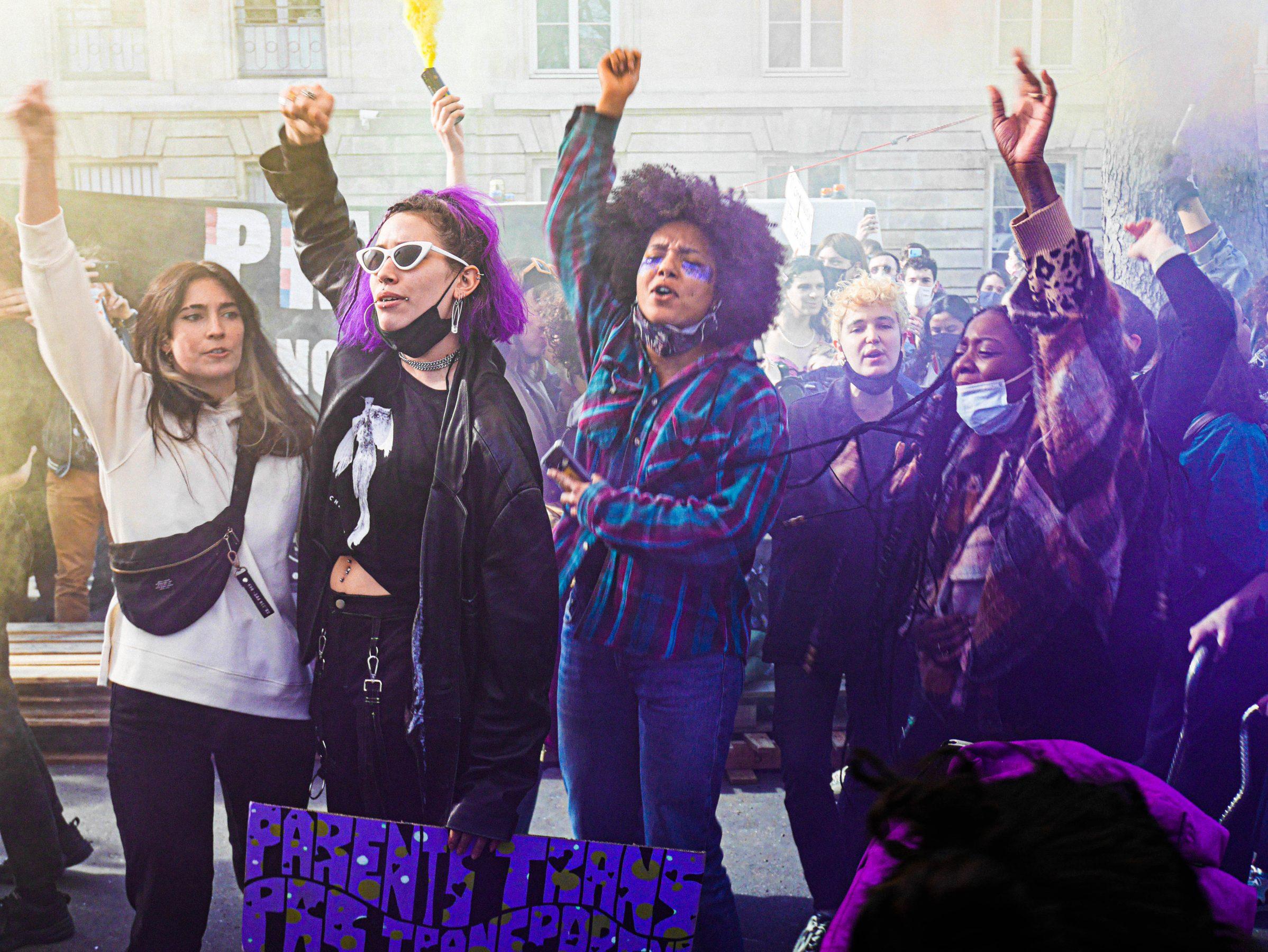 Rassemblement pour la PMA pour tous.tes (Paris, 21 février 2021)