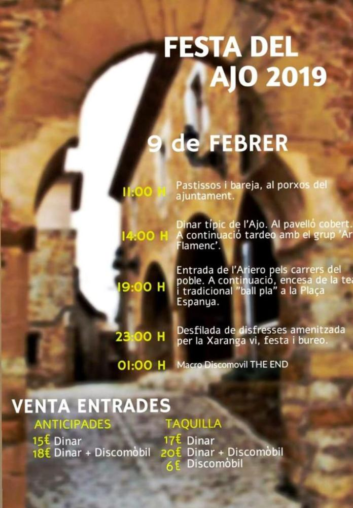 Benassal celebra la Festa del Ajo el 9 de febrer