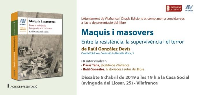 MAQUIS I MASOVERS -GON- (TAR)Vilafranca