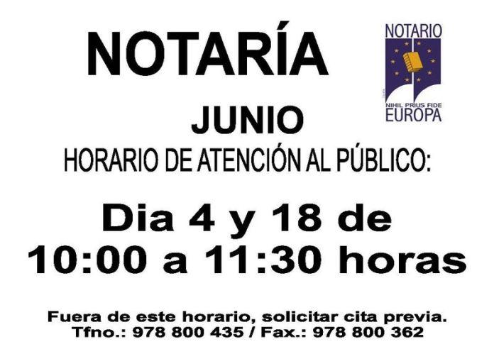 HORARIO NOTARÍA - MOSQUERUELA