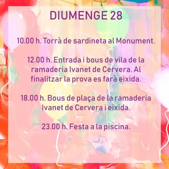 FESTES TÍRIG DIUMENGE 28