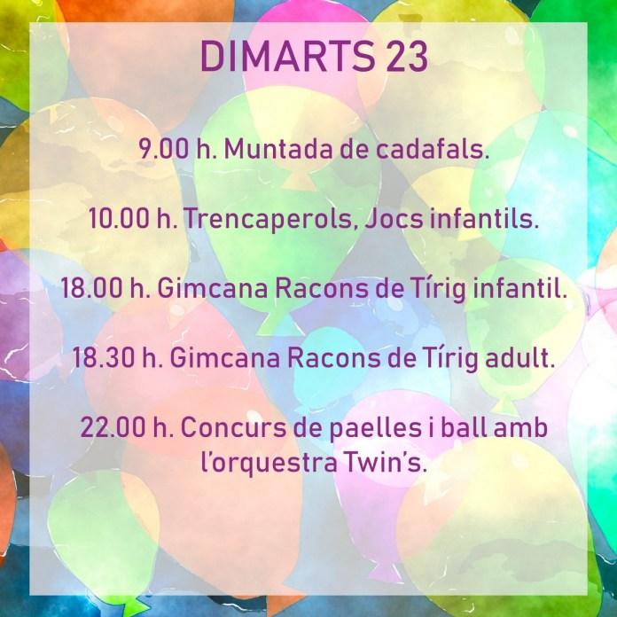 FESTES TÍRIG DIMARTS 23