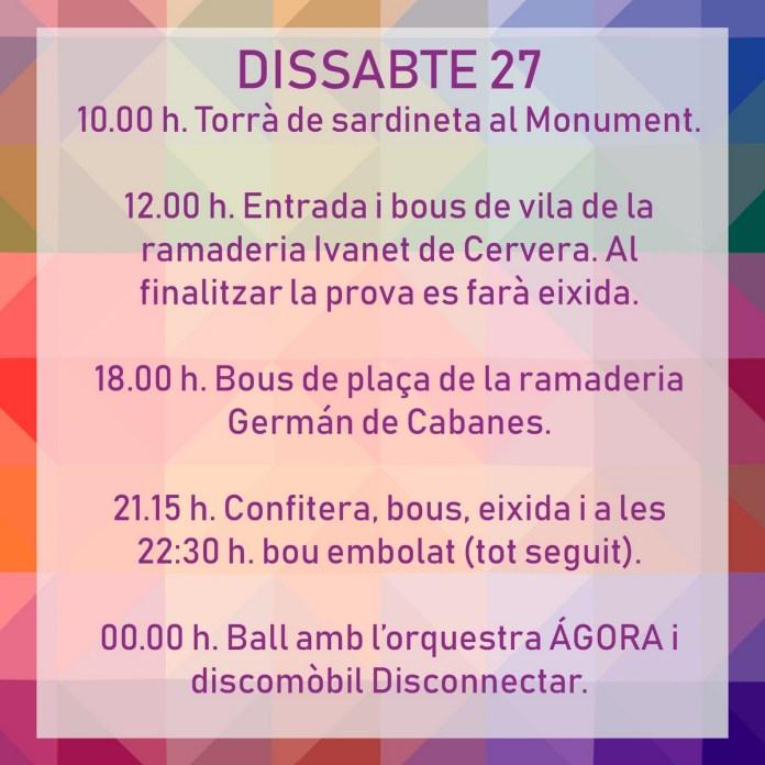 FESTES TÍRIG DISSABTE 27