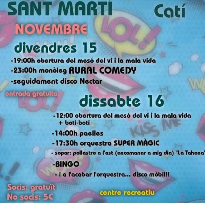 Festa de Sant Martí 2019 a Catí