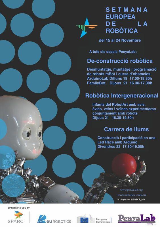 Cartell de les activitats de la Setmana Europea de la Robòtica al Penyalab