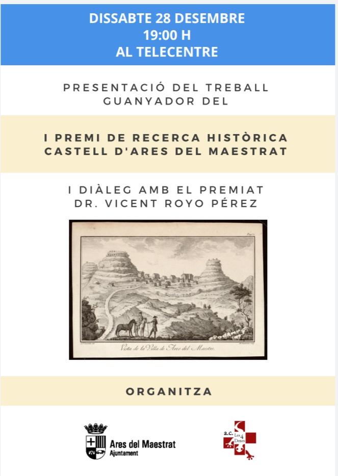 Premi Investigació Històrica Castell d'Ares