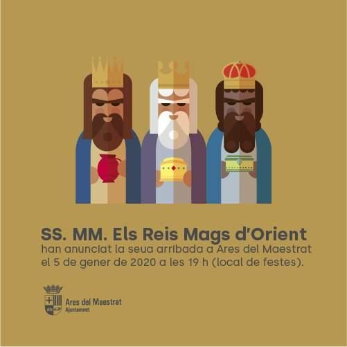 Cartell Reis d'Orient a Ares del Maestrat