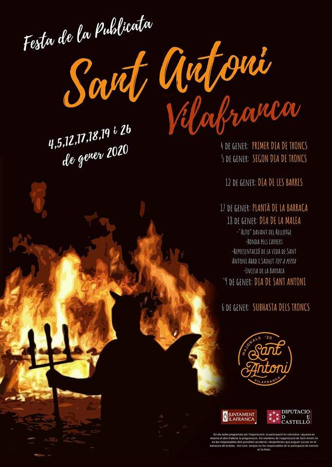 Cartell Sant Antoni 2020 a Vilafranca