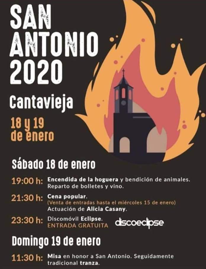 Cartel San Antonio 2020 en Cantavieja
