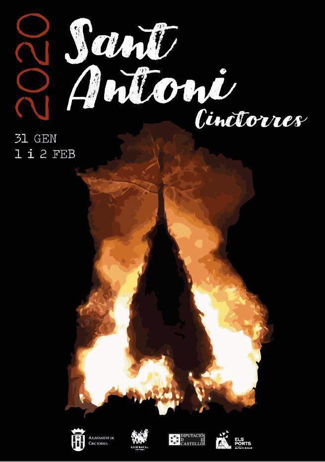 Cartell Sant Antoni 2020 Cinctorres