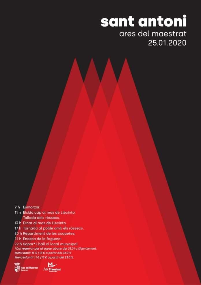 Cartell de Sant Antoni 2020 a Ares