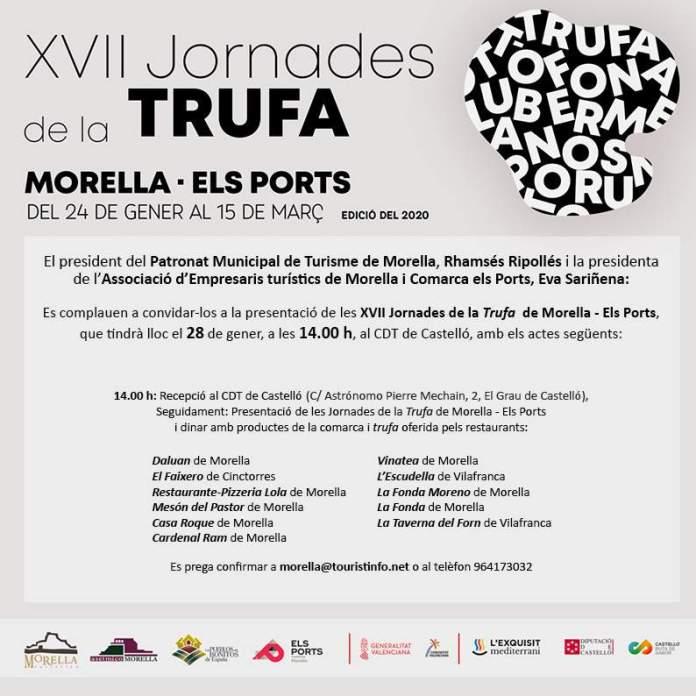 Invitació jornades de la Trufa Morella-Els Ports 2020