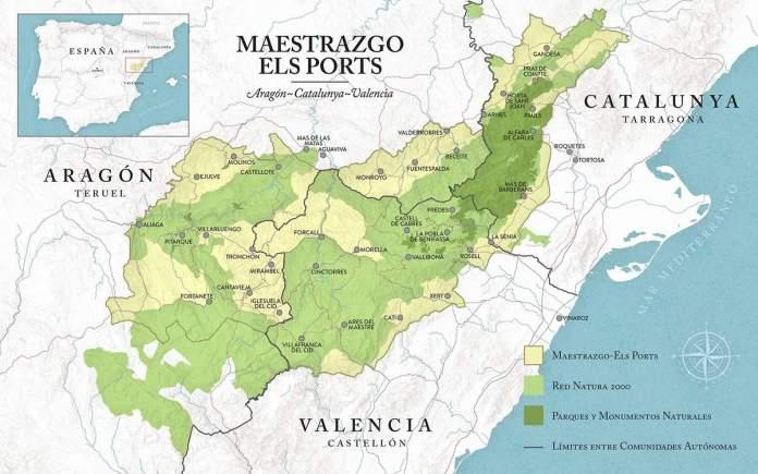 Mapa de Maestrazgo Els Ports