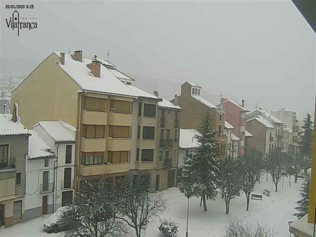 Neu ahir dilluns a Vilafranca