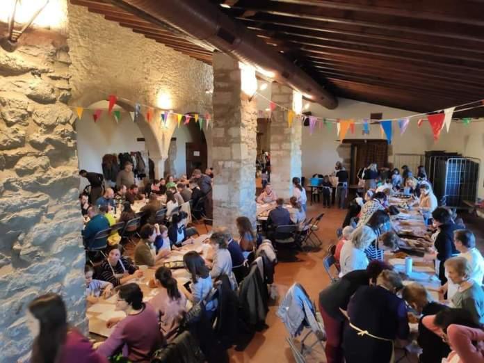 Preparatius de Sant Antoni 2020 a Castellfort