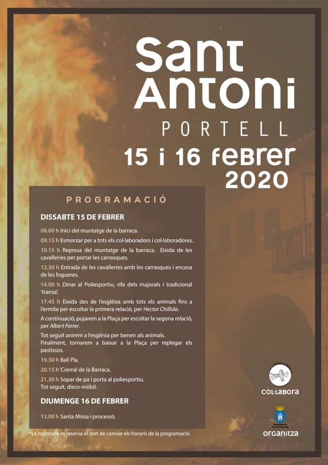 Cartell del Sant Antoni a Portell