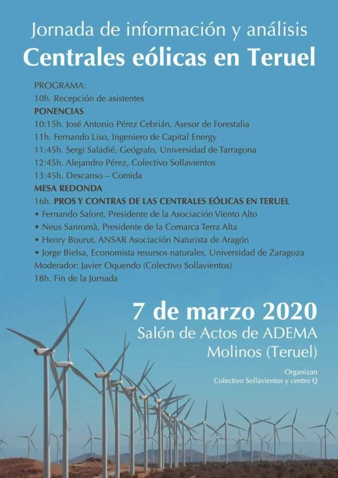 Jornada Centrales eólicas en Teruel