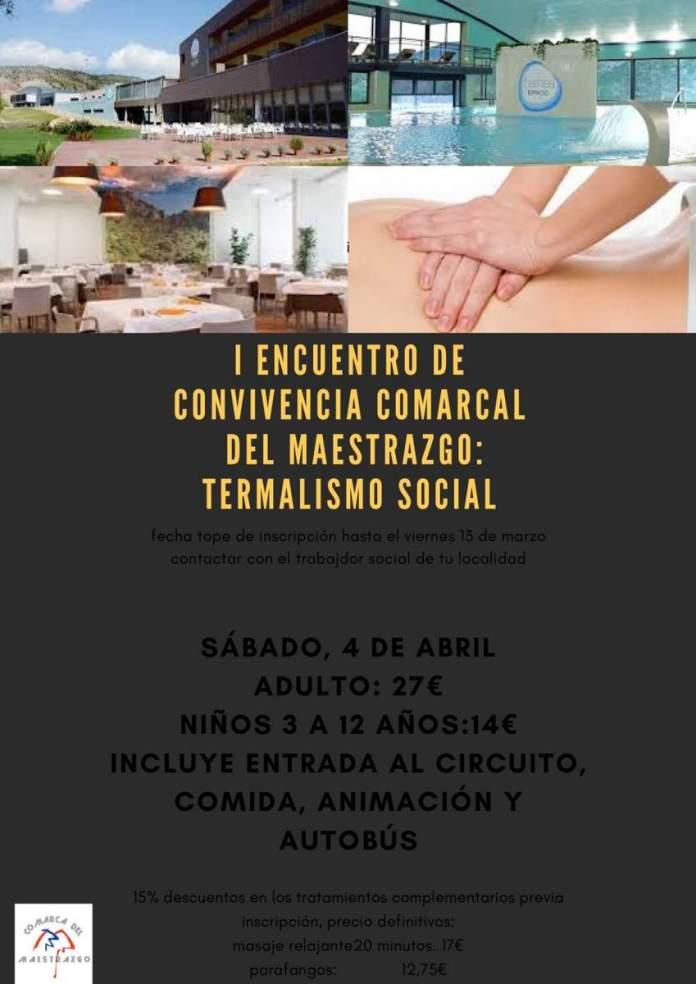 Cartel de la jornada de termalismo social