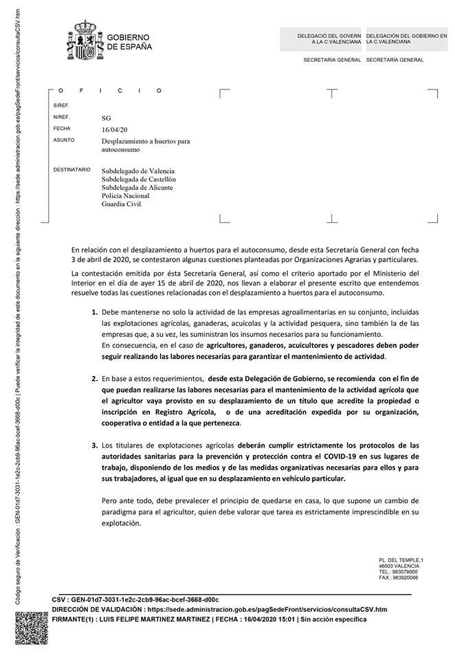 Comunicat de la Delegació del Govern