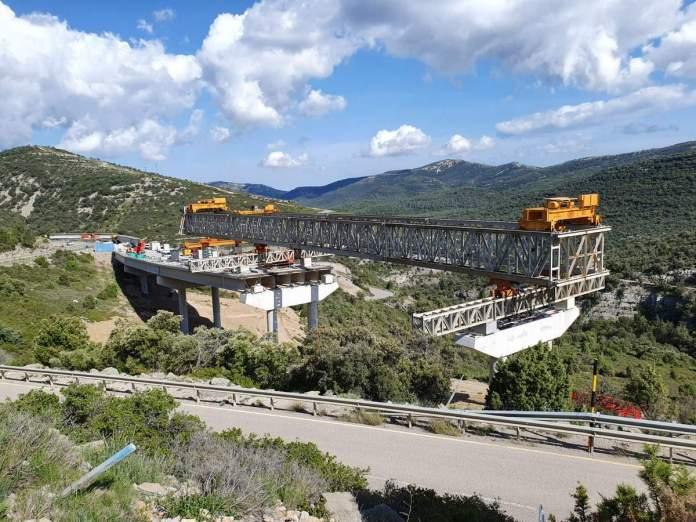 Obres als viaductes del port de Querol, a l'N-232