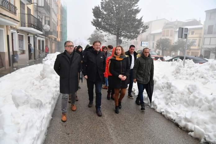 Visita a Vilafranca pel temporal Glòria