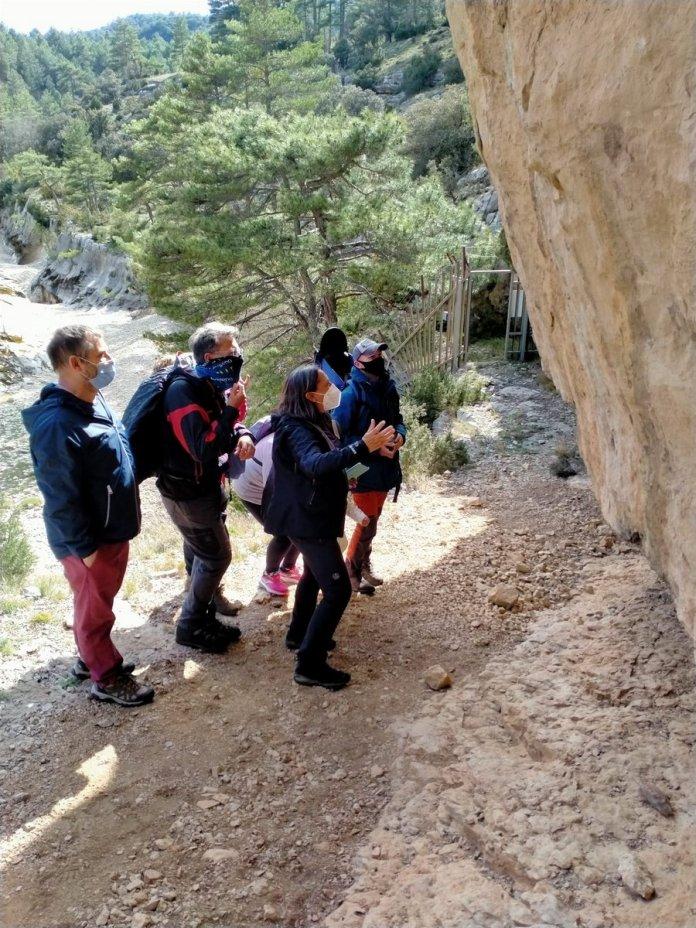 Visita a l'Abric del Mas de la Rambla