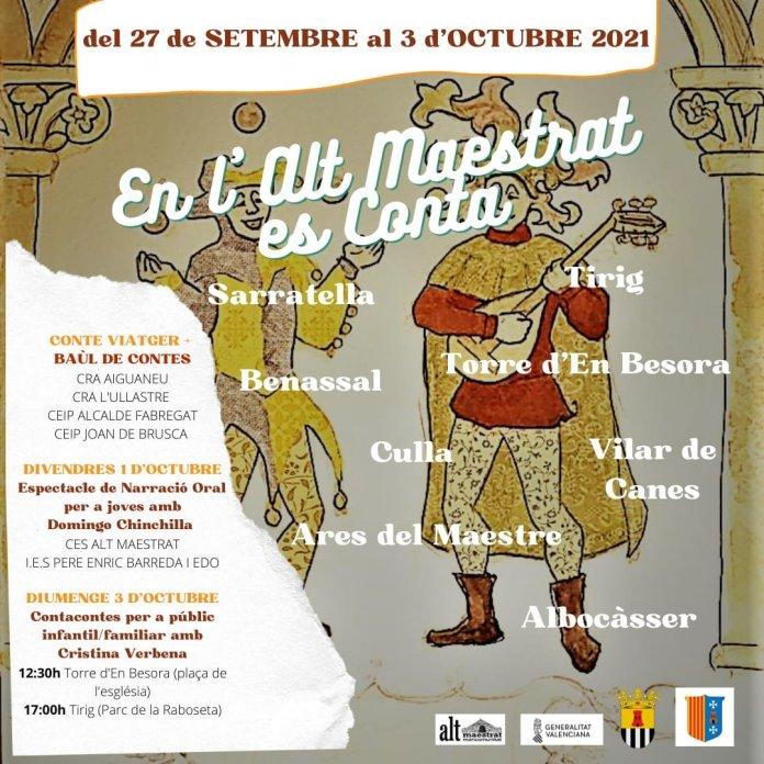 Cartell de la setmana de contes a l'Alt Maestrat