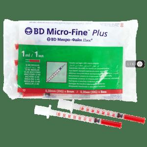 Шприцы инсулиновые БД U-40 8mm