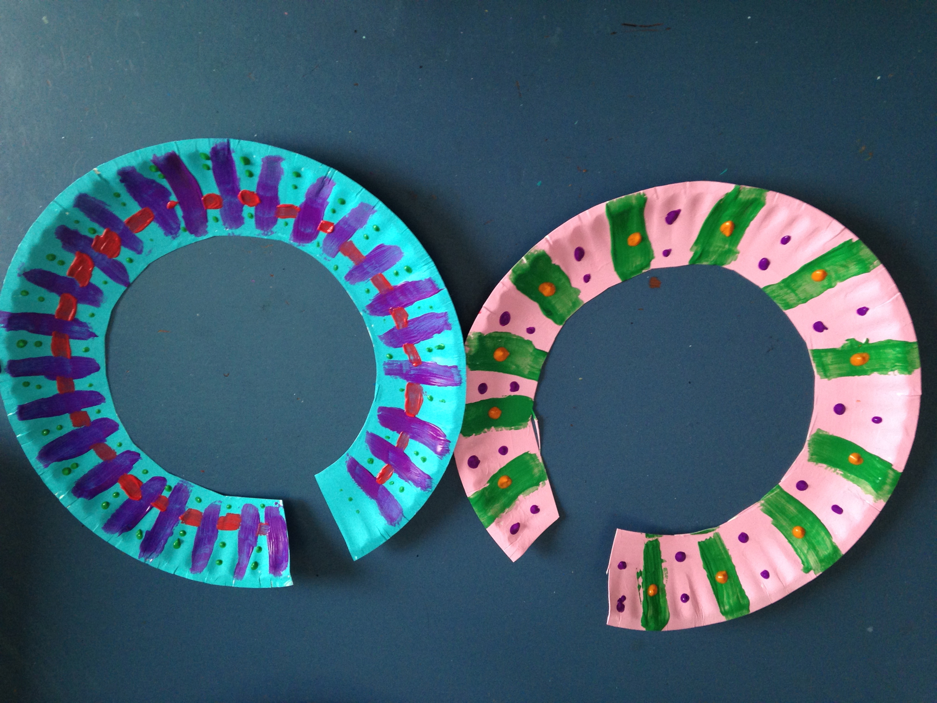 African Paper Plate Necklace