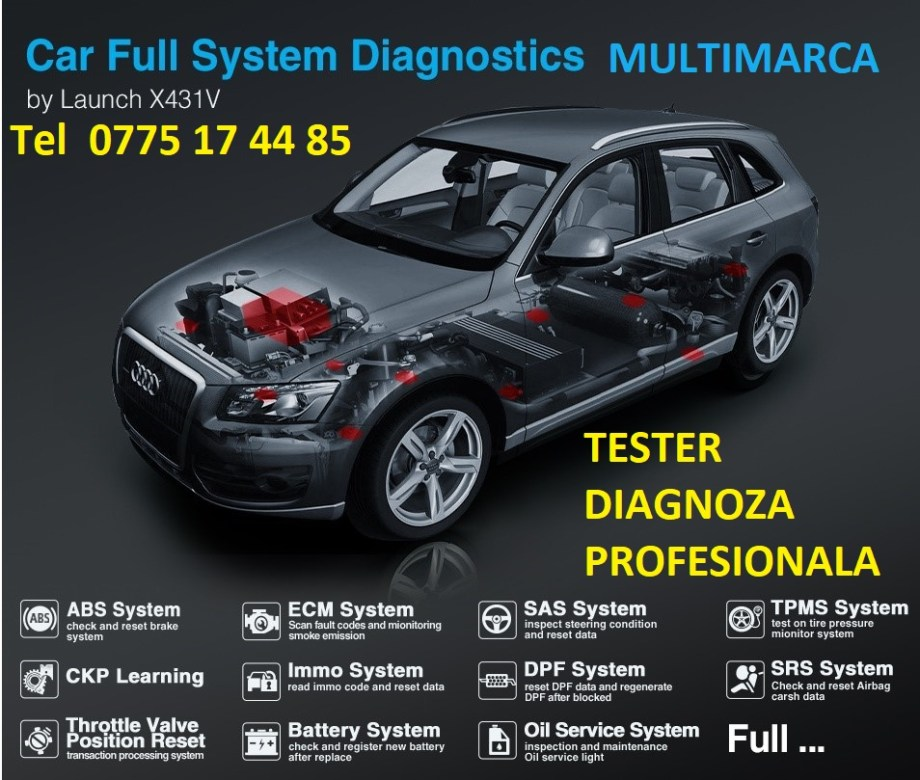 Diagnoza Tester auto profesional Multimarca,repar card,cartela,BMW,diagnoza Mercedes