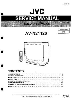 JVC jvc av n21120 chassis fv3 pdf Diagramas de Televisores