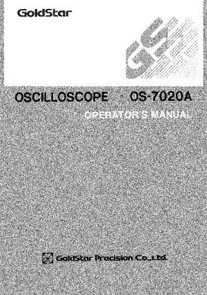 GOLDSTAR os 7020a MANUAL GOLDSTAR pdf Diagramas de instrumental electrico y laboratorio