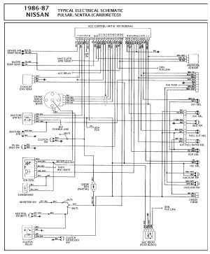 Nissan nissan sentra Carbureted PCM Wiring diagram gif