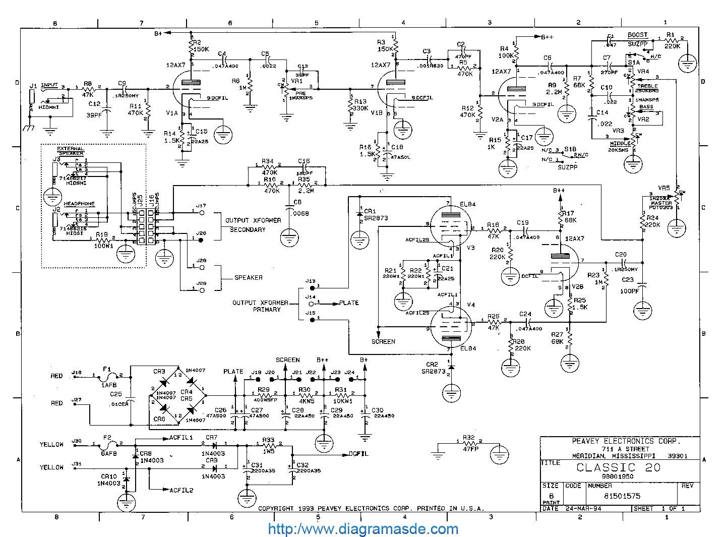 Peavey Diagramasde Com Diagramas Electronicos Y