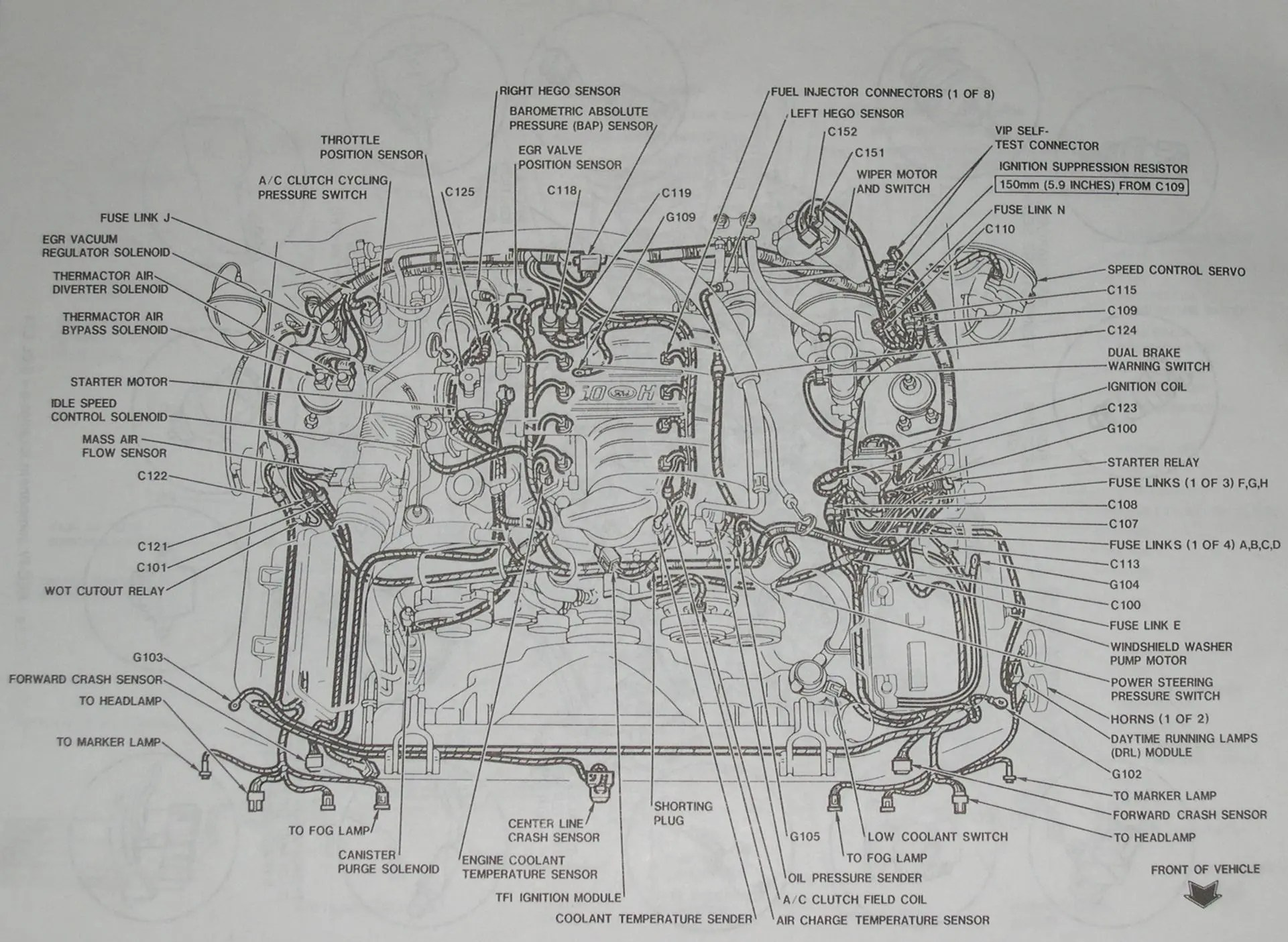 2012 Mustang Engine Diagram 94 95 50 Detailed Layout