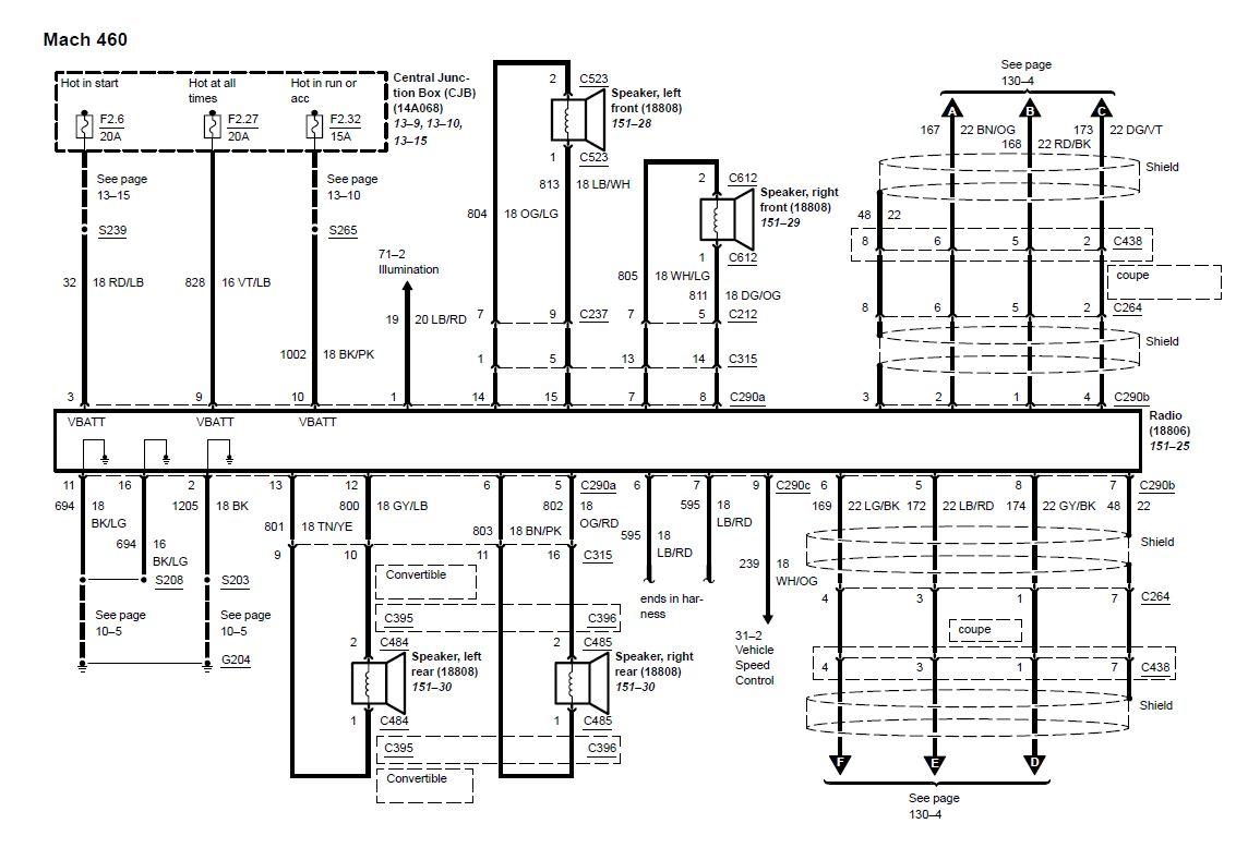 2003 2004 03 04 mustang mach 460 wiring diagram rh diagrams hissind com wiring diagram for 2003 mustang 2003 Mustang Fuse Diagram