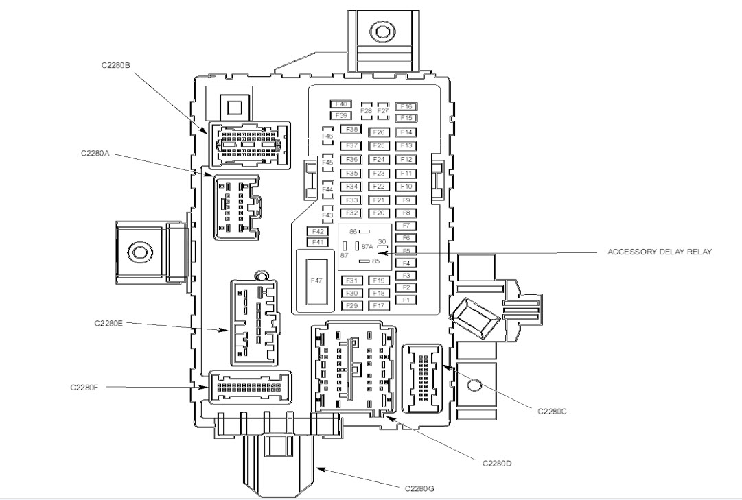 2011 Ford Mustang Fuse Box Diagram Under Hood Amp Under Dash