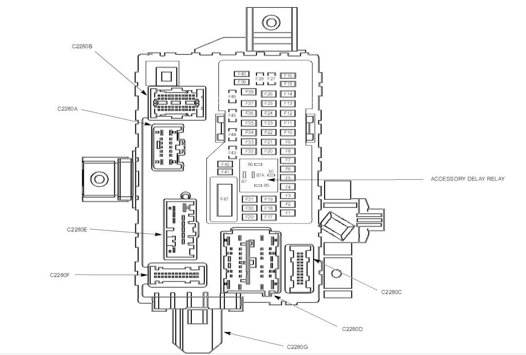 2013 Fiat 500 Fuse Box Wiring Diagram Data Nissan Maxima Ford Mustang Schema Online Chrysler Sebring 2010