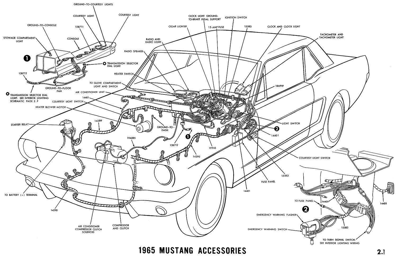 Mustang Accesories Diagram