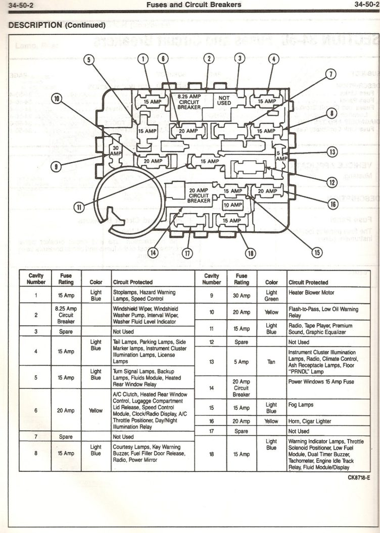 1990 23L Mustang Engine Bay Fuse Diagram