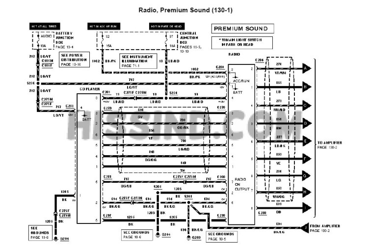 20012004 Mustang Factory Radio Diagram to Upgrade Stereo