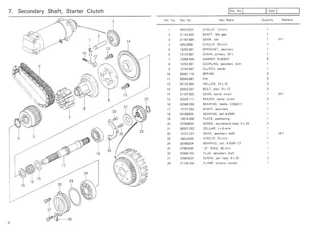 Kawasaki Kz1000 Parts Diagram | hobbiesxstyle